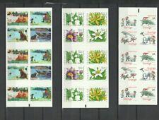 Sweden 2002 - 2008 6 Different Complete Mint Booklets CV $94