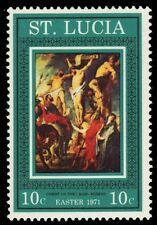 "ST. LUCIA 290 (SG305) - Easter Paintings ""Christ on the Cross"" (pa28207)"