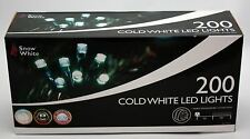 200 White Clear Led Xmas Christmas Fairy Tree Lights multi action function