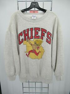 K0729 VTG Pro-Line Kansas City Chiefs Sweatshirt Made in USA Size L