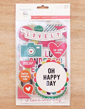 Project Life CONFETTI (27) CHIPBOARD STICKERS scrapbooking 380439