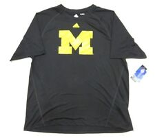 "NWT Adidas NCAA University of Michigan ""M"" Black Graphic Shirt Adult Size Large"