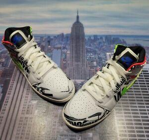 Nike Air Jordan 1 Mid All Over Logos GS Grade School Size 5Y 554725 143 New