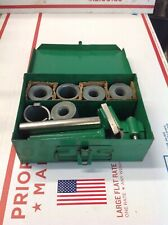 Greenlee Wire Cable Stripper 1820 Tool Metal Case w/7 Dies  #1002A