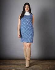 Simply Be Sleeveless Jacquard Pinafore Dress Size 20 Blue UK FREEPOST