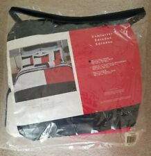 EUC Tommy Hilfiger Red White & Blue Flag Twin Comforter Reversible
