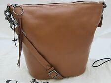COACH Pebble Leather Duffle Bag 'Tan' NEW
