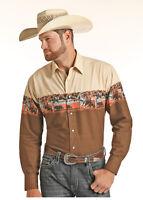 Panhandle Slim Men's Roper Snap Up Western Shirt 30S9031