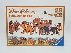Ravensburger Walt Disney Das Dschungelbuch Holzpuzzle 28 Teile 1983 Rar