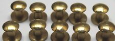 WWII STYLE  Brass Rifle Sling Buttons 1/2in L x 9/16in w x 1/4in LOT OF 10 E2107