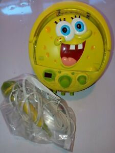 SPONGEBOB SQUAREPANTS KARAOKE Portable Radio Boombox AM FM Stereo CD Player New