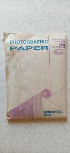 USSR Vintage Matte B&W Photo Paper Bromexpress 25sheets 10x15cm Expired