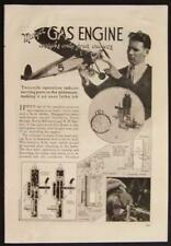 High Speed Model Gas Engine 2 cycle 1937 original vintage How-To build Plans