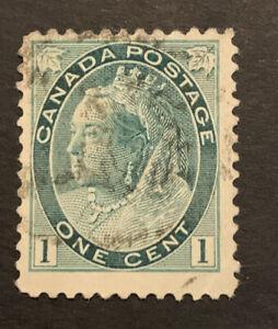 1898-1902 Canada 1c Green FU stamp
