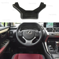 For Lexus GS RX ES LX NX Interior Carbon Fiber Steering Wheel Cover Kit 2015-on