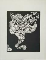 Wassily Kandinsky Original Woodcut For 10 Origin Limited ed. 1975