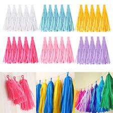 5Pcs Tissue Paper Tassels Wedding Party Decor Garland BuntingsPompom Tassle