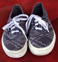 Kids Vans Size 13.5 Blue pattern