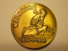 vintage 1984 WHITE ROCK WATER WAUKESHA STATE BANK advertising medal w/ fairy