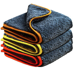 Towelogy® High Piles Premium Twisted Microfiber Auto Car Towels Cleaning Cloths