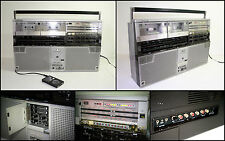 SHARP GF-555 Double Radio Cassette Boombox Ghetto-blaster (AUX in)