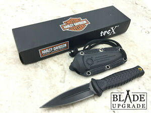Case Tec X Harley Davidson Stainless Dagger Blade GRN Fixed Blade Knife 52162