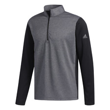 adidas Golf Light Weight UPF 1/4 Zip Top (Black Heather - XXL)