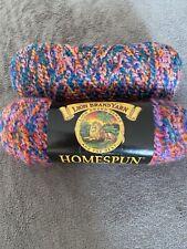 2 Lion Brand Yarn Homespun Boucle 6oz/185 Yards New