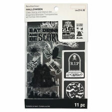 Recollections Halloween Tree Clear Stamp & Stencil Set #1451