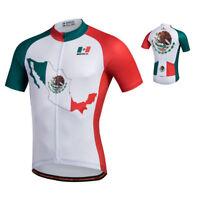 Mexico Team Cycling Clothing Shirts Tops Men's Bike Bicycle Cycling Jersey S-5XL