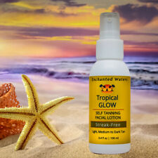 Tropical Glow Sunless Self-Tanning Streakless Gel Face Lotion for All Skin Tones