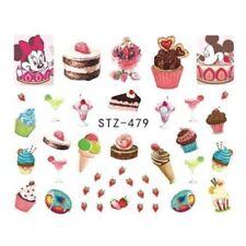 Nail Art Water Decals Transfers Stickers Summer Ice Cream Sundae Cupcake (479)