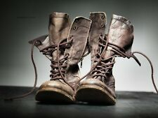 All Saints Brown Tan Leather Military Boots Mens 41 (AV)