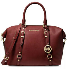 Michael Kors Brandy Bedford Legacy Med Convertible Leather Satchel