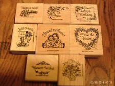 Stampin Up Greetings~1993~8 Stamps~Happy Birthday~Warmest Wishes~Thanks a bunch