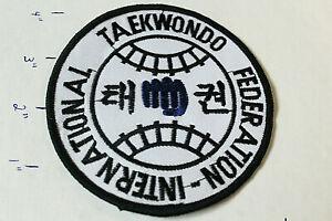 NEW TAEKWONDO INTERNATIONAL FEDERATION STITCHED UNIFORM PATCH Martial Arts MMA