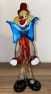 Älterer Murano Clown aus Glas / Millefiori  70er Jahre 27 cm Top Zustand