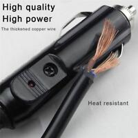 12V/24V Car Cigarette Lighter Socket Plug Power Connection Male Adaptor+20A Fuse