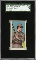Rare 1909-11 T206 Rudy Hulswitt Sovereign 350 St Louis SGC 60 / 5 EX NY Find
