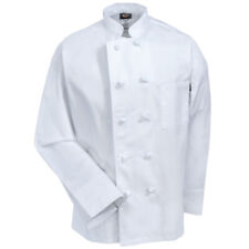 NWT DICKIES UNISEX KNOT BUTTON CHEF COAT WHITE  DC43