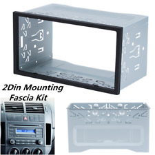 Metal 2Din Car Radio Frame Fascia Dash Panel for DVD Player Stereo Installation