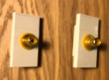 2x MK Aspect / Edge / Metalclad Plus Euro Module Bespoke RCA Female Socket