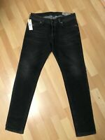 NWD Mens Diesel TROXER Stretch Denim R9F66 BLACK Slim W31 L31 H6 RRPR150
