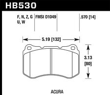 Disc Brake Pad-Type-S Front Hawk Perf HB530U.570 fits 2007 Acura TL
