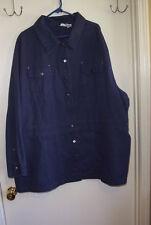 Roamans Denim Jacket, Dark Blue, size 32W