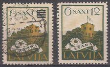 LATVIA, 1931 Mi 184 USED STAMP WITH PLATE ERROR - LOOK!