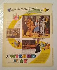 Wizard of Oz 1939 Vintage Magazine Full-Page Ad - Judy Garland