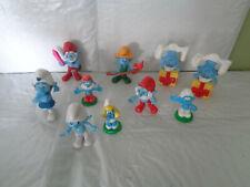 10 Piece Lot of Smurf Figures - Peyo / McDonalds - Jokey - Smurfette - Papa