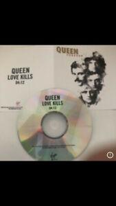 "QUEEN ""LOVE KILLS"" VIRGIN RECORDS CD PROMO"
