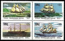CHILE, NAVAL TRADITIONS, YEAR 1986, #1187-90, MNH